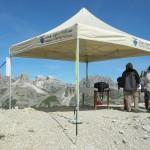Быстросборный летний шатер для походов и пикников